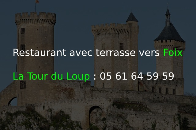 Restaurant avec terrasse vers Foix